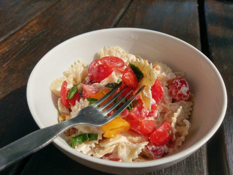 Ricotto-rajčatové pasta